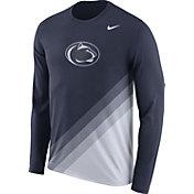Nike Men's Penn State Nittany Lions Blue/White Football Sideline Dri-FIT Long Sleeve Shirt