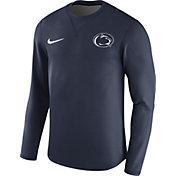 Nike Men's Penn State Nittany Lions Blue Modern Football Sideline Crew Long Sleeve Shirt