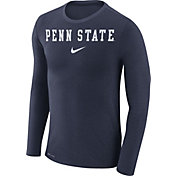 Nike Men's Penn State Nittany Lions Blue Marled Dri-FIT Long Sleeve Shirt