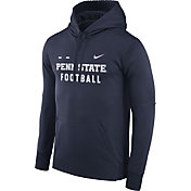 Nike Men's Penn State Nittany Lions Blue Football Sideline Therma-FIT Hoodie
