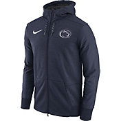 Nike Men's Penn State Nittany Lions Heathered Blue Football Travel Full-Zip Hoodie
