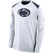 Nike Men's Penn State Nittany Lions Elite Shooter White Long Sleeve Shirt