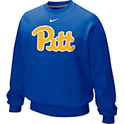 Nike Men's Pitt Panthers Throwback Blue Crew Sweatshirt