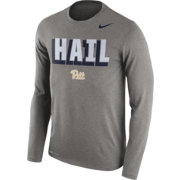 Nike Men's Pitt Panthers Grey Dri-FIT Franchise Long Sleeve T-Shirt