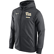 Nike Men's Pitt Panthers Anthracite Therma-FIT Full-Zip Football Hoodie