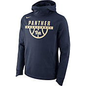 Nike Men's Pitt Panthers Blue Basketball Performance Elite Therma-FIT Hoodie