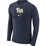 Nike Men's Pitt Panthers Blue Marled Dri-FIT Long Sleeve Shirt