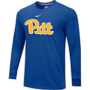Nike Men's Pitt Panthers Retro Blue Long Sleeve Shirt
