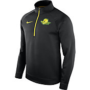 Nike Men's Oregon Ducks Black Therma Half-Zip Shirt