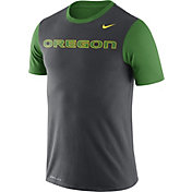 Nike Men's Oregon Ducks Anthracite/Apple Green Championship Drive Dri-Blend T-Shirt