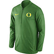Nike Men's Oregon Ducks Apple Green Lockdown Sideline Half-Zip Jacket