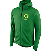 Nike Men's Oregon Ducks Green Therma-FIT Full-Zip Elite Basketball Hoodie