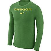 Nike Men's Oregon Ducks Apple Green Marled Dri-FIT Long Sleeve Shirt