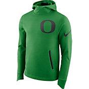 Nike Men's Oregon Ducks Green Therma-FIT PHK Elite Basketball Pullover Hoodie