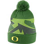 Nike Men's Oregon Ducks Apple Green Football Sideline Beanie