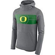 Nike Men's Oregon Ducks Grey Basketball Performance Fan Hoodie