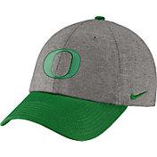 Nike Men's Oregon Ducks Grey/Green Heritage86 Heather Adjustable Hat
