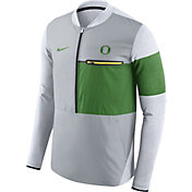 Nike Men's Oregon Ducks Grey/Apple Green Shield Hybrid Football Sideline Jacket