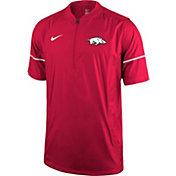 Nike Men's Arkansas Razorbacks Cardinal Football Sideline Hot Jacket