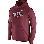 Nike Men's Arkansas Razorbacks Cardinal Club Fleece Hoodie