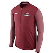 Nike Men's Arkansas Razorbacks Cardinal Coach Half-Zip Football Sideline Jacket