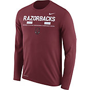 Nike Men's Arkansas Razorbacks Cardinal Football Sideline Staff Legend Long Sleeve Shirt