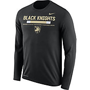 Nike Men's Army West Point Black Knights Army Black Football Sideline Staff Legend Long Sleeve Shirt