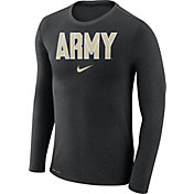 Nike Men's Army West Point Black Knights Army Black Marled Dri-FIT Long Sleeve Shirt