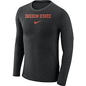Nike Men's Oregon State Beavers Black Marled Dri-FIT Long Sleeve Shirt