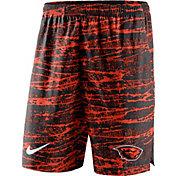 Nike Men's Oregon State Beavers Black/Orange Shield Performance Shorts