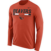 Nike Men's Oregon State Beavers Orange Football Sideline Staff Legend Long Sleeve Shirt