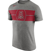 Nike Men's Arizona Wildcats Grey Logo Basketball T-Shirt