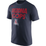 Nike Men's Arizona Wildcats Navy 'Arizona Hoops' Basketball T-Shirt