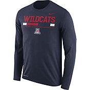 Nike Men's Arizona Wildcats Navy Football Sideline Staff Legend Long Sleeve Shirt