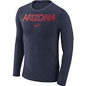 Nike Men's Arizona Wildcats Navy Marled Dri-FIT Long Sleeve Shirt