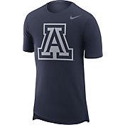 Nike Men's Arizona Wildcats Navy Enzyme Washed Drop-Tail T-Shirt