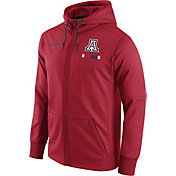 Nike Men's Arizona Wildcats Cardinal Therma-FIT Full-Zip Football Hoodie