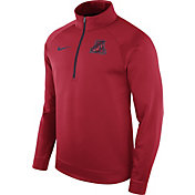 Nike Men's Arizona Wildcats Cardinal Therma Half-Zip Shirt