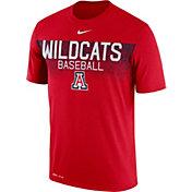Nike Men's Arizona Wildcats Cardinal Dri-Fit Team Issue Performance Baseball T-Shirt