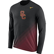Nike Men's USC Trojans Black/Cardinal Football Sideline Dri-FIT Long Sleeve Shirt