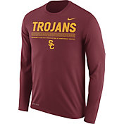 Nike Men's USC Trojans Cardinal Football Sideline Staff Legend Long Sleeve Shirt