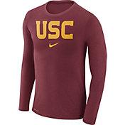 Nike Men's USC Trojans Cardinal Marled Dri-FIT Long Sleeve Shirt