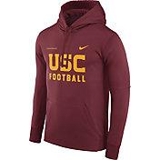 Nike Men's USC Trojans Cardinal Football Sideline Therma-FIT Hoodie