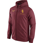Nike Men's USC Trojans Cardinal Therma-FIT Full-Zip Football Hoodie