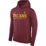 Nike Men's USC Trojans Cardinal Football Sideline Pullover Therma-FIT Hoodie