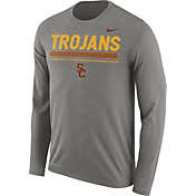 Nike Men's USC Trojans Grey Football Sideline Staff Legend Long Sleeve Shirt