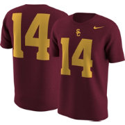 Nike Men's USC Trojans Cardinal #14 Football T-Shirt