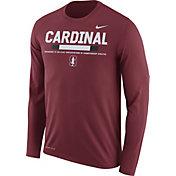 Nike Men's Stanford Cardinal Football Sideline Staff Legend Cardinal Long Sleeve Shirt
