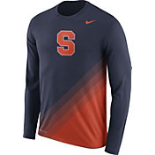 Nike Men's Syracuse Orange Blue/Orange Football Sideline Dri-FIT Long Sleeve Shirt