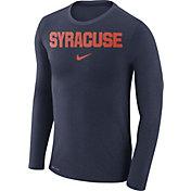 Nike Men's Syracuse Orange Blue Marled Dri-FIT Long Sleeve Shirt